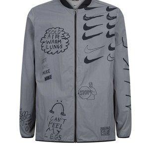 NIKE Nathan Bell Printed Running Jacket Mens Sz Me
